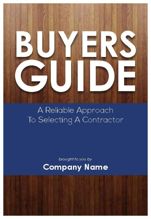 Buyers Guide to Selecting a Contractor, Front Cover