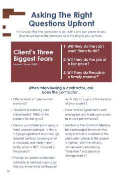 Buyers Guide to Selecting a Contractor, Page 10