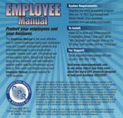 Employee Manual for Construction, Back Cover