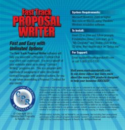 Fast Track Proposal Writer back cover