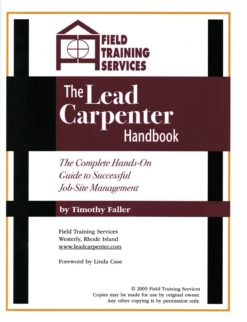 Lead Carpenter Handbook Cover