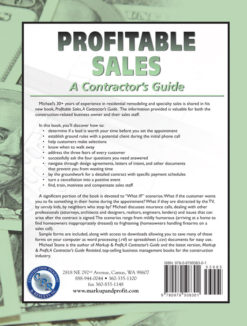 Profitable Sales, A Contractor's Guide Back Cover