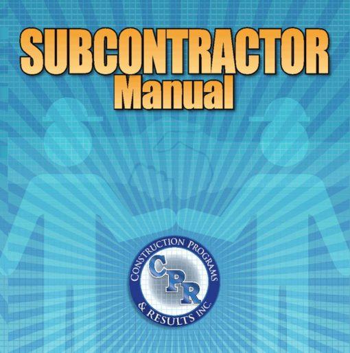 Subcontractor Manual