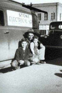 Subcontractor - Me, my younger brother and my father, Scranton, North Dakota, circa 1949